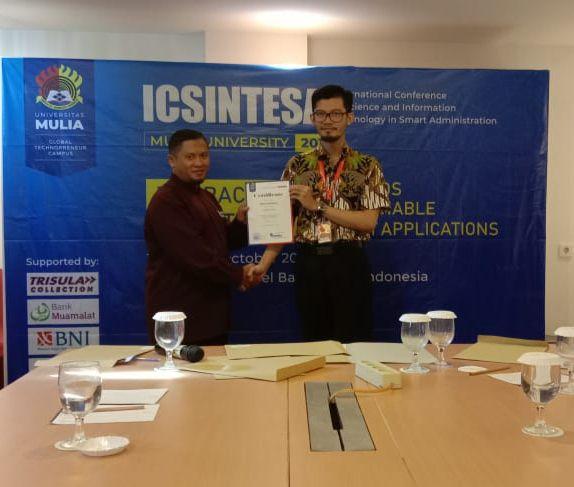 Bayu Nugraha,S.Kom.,M.MSI menghadiri konferensi internasional bidang Informatika ICSINTESA di Balikpapan